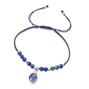 Gemstone armband Lapis Lazuli/Druppel - Shrieking Violet