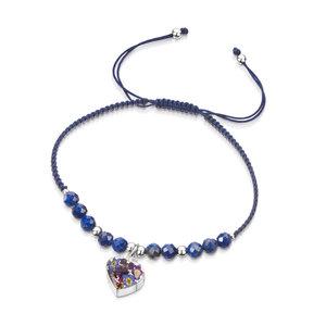 Gemstone armband Lapis Lazuli/Hart purple haze - Shrieking Violet