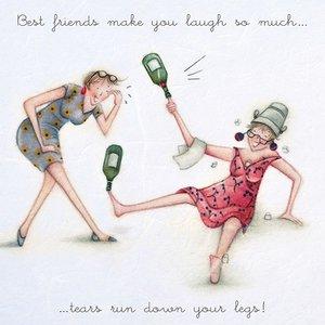 wenskaart Best friends make you laugh - Berni Parker