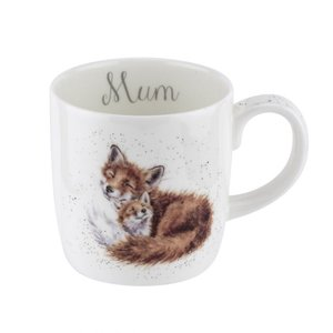 Large Mug MUM - foxes - Wrendale Designs by Royal Worcester