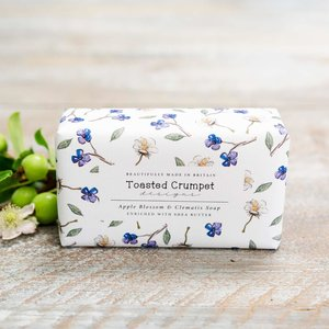 Apple Blossom & Clematis 190g Soap Bar - Toasted Crumpet
