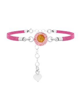 Armband Pink daisy-roze bandje