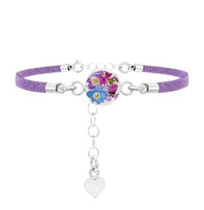 Armband Purple Haze rond-paars bandje